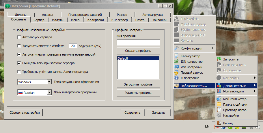 Open Server Panel